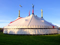 Big top circus tent a on a beautiful sunny day Stock Image