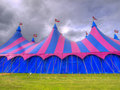 Big top circus tent on a field Royalty Free Stock Photo