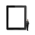 Big touch pad businessman and Stock Images