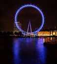 Big touristic wheel shining in the night Royalty Free Stock Photo