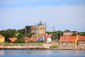 The Big Tower Christiansoe Bornholm Denmark Royalty Free Stock Photo