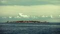 Big Tower in fort Christiansoe Bornholm on Baltic Sea Denmark Scandinavia Europe Royalty Free Stock Photo