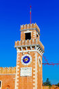 Big tower of Venetian Arsenal, Italy Royalty Free Stock Image
