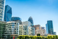 Big towers in La Defense business district in paris Royalty Free Stock Photo