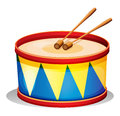 A big toy drum illustration of on white background Royalty Free Stock Photos