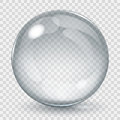 Big transparent glass sphere Royalty Free Stock Photo