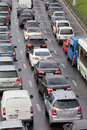 Big transport stopper moscow russia road jams arise because of a large number of which exceeds the maximum capacity of Stock Image