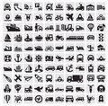 Big transportation icons Royalty Free Stock Photography