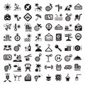 Big travel icons set elegant created for mobile web and applications Royalty Free Stock Image
