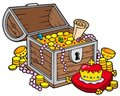 Big treasure chest Stock Image