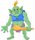 Big troll fat with cudgel Stock Images