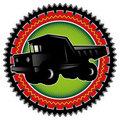 Big truck label. Royalty Free Stock Photos