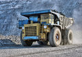The big truck transport iron ore in career Stock Image