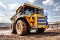 The big truck transport iron ore in career Stock Photography