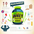 A big tub of whey protein for body building. sport nutrition. in
