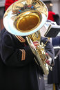 Big Tuba Player Royalty Free Stock Photo