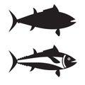 Big Tuna Fish Outline Icon or Logotype Royalty Free Stock Photo