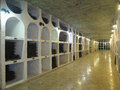Big underground wine cellar with collection of bottles Royalty Free Stock Photo