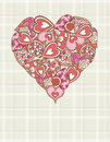 Big valentines heart, vector Royalty Free Stock Photography