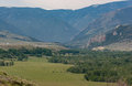 Big Valley in the foothills of Montana Royalty Free Stock Photo
