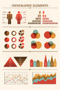 Big vector collection of infographic elements illustration Stock Photography