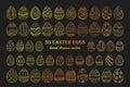 Big vector Easter egg set. Royalty Free Stock Photo
