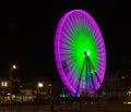 Big violet and green wheel Royalty Free Stock Photo