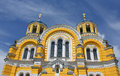 Big Vladimir Cathedral in Kiev in Ukraine Royalty Free Stock Photo