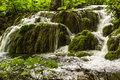Big waterfall view in the national park of plitvice in croatia europ Stock Image
