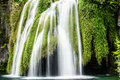 Big waterfall view in the national park of plitvice in croatia europa Royalty Free Stock Image