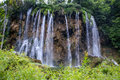 Big waterfall view in the national park of plitvice in croatia europa Stock Photography