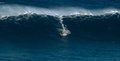 Big wave at jaws maui hawaii usa december unknown surfer is riding a Royalty Free Stock Photography
