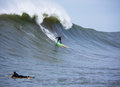 Big Wave Surfer Garrett McNamara Surfing Mavericks California Royalty Free Stock Photo
