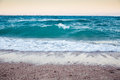 Big waves on the seacoast of the red sea hurghada egypt selective focus Stock Image
