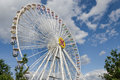 Big wheel in an amusement park Royalty Free Stock Photos