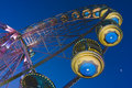 Big wheel in a amusement park Royalty Free Stock Photo