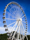 Big wheel on blue sky Stock Images