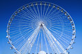 Big Wheel, breathtaking blue sky Stock Photos