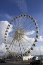 Big wheel brighton seafront blue sky Royalty Free Stock Image