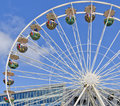 Big wheel at the harbour birthday at hamburg germany Royalty Free Stock Image