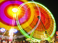 Big wheel in motion at night Stock Images