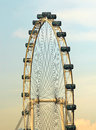 Big wheel the in singapore in south east asia Stock Photography