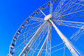 Big Wheel Structure under a Deep Blue Sky Royalty Free Stock Photography