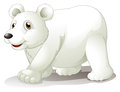 A big white bear illustration of on background Stock Photography