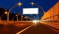 Big white billboard Royalty Free Stock Photo