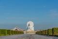 Big White Buddha image in Saraburi, Thailand. Royalty Free Stock Photo