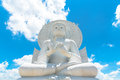 Big White Buddha image in Saraburi, Thailand. Royalty Free Stock Photo