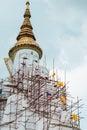 Big white buddha image statue on stock photo Stock Images