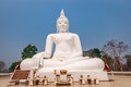 Big white buddha kanchanaburi thailand Royalty Free Stock Photo