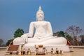 Big white buddha kanchanaburi thailand Royalty Free Stock Photo